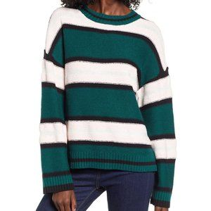 bp green robyn everyday striped crewneck sweater S